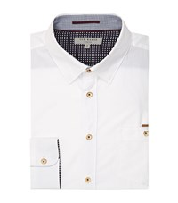 Ted Baker Newway Casual Collar Shirt Male White