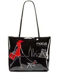 Macy's Walking Dog Small Tote Black