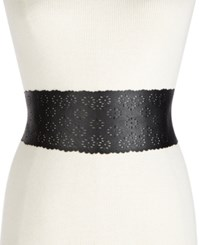 Inc International Concepts I.N.C. Perforated Tie Sash Waist Belt Created For Macy's Black