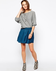 Zadig And Voltaire Full Mini Skirt Blue