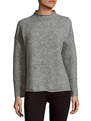 360 Sweater Cashmere And Wool Blend Skull Back Heather Grey