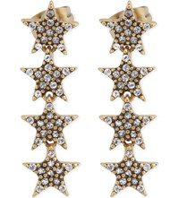 Marc Jacobs Twinkle Star Stud Earrings Crystal Antique Gold