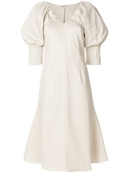 Aalto Balloon Sleeves Dress Nude And Neutrals