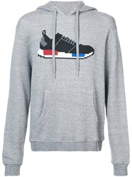 Mostly Heard Rarely Seen Sneaker Hoodie Cotton S Grey