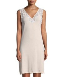 Zimmerli Met Tropical Lace Trim Nightgown Light Pink