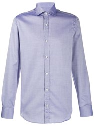 Z Zegna Slim Neck Shirt Blue