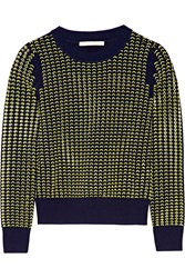 Jonathan Simkhai Open Stretch Knit Sweater Yellow
