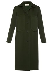 Nina Ricci Single Breasted Double Faced Coat Green