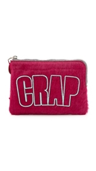 House Of Holland Croc Embossed Haircalf Bag Pink