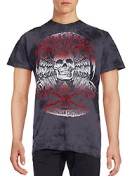 Affliction Tried And True Graphic Tee Charcoal