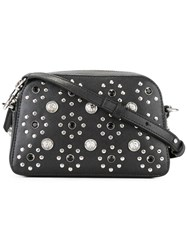 Versus Flower Studded Crossbody Bag Black