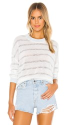 Splendid Charter Looseknit Sweater In White. White And Blue Sky