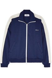 Ambush Striped Satin Jersey Track Jacket Navy