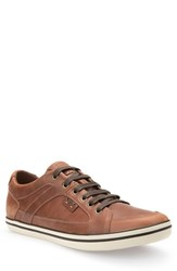 Geox Men's 'U Box' Leather Sneaker Dark Brown Leather
