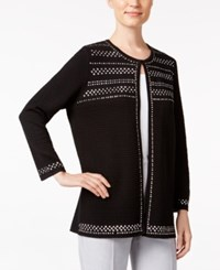 Alfred Dunner Studded Cardigan Black