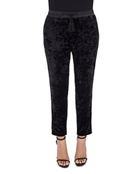 B Collection By Bobeau Madison Ankle Crushed Velvet Pants Black