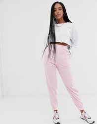 Daisy Street Relaxed Cuffed Joggers Pink