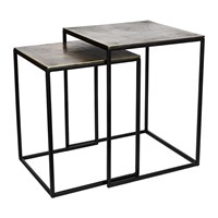 Pols Potten Square Frame Side Tables Set Of 2
