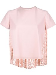 Valentino Cardigan With Heavy Lace Back Pink And Purple