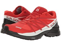 Salomon S Lab Wings 8 Racing Red Black White Athletic Shoes