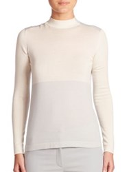 Akris Cashmere And Silk Knit Pullover Iceman Moonstone