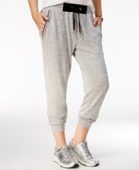 Material Girl Active Juniors' Embellished Jogger Pants Only At Macy's Heather Grey