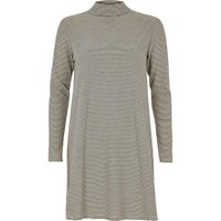 River Island Womens Black And White Stripe Turtleneck Dress