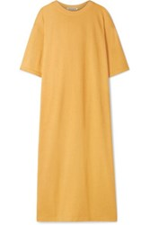 Elizabeth And James Crawford Oversized Cotton Blend Terry Midi Dress Marigold