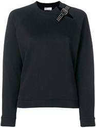 Red Valentino Buckle Detail Sweatshirt Black