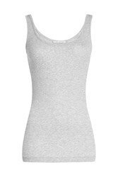 Vince Ribbed Tank Top With Cotton