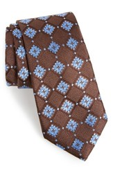 Nordstrom Men's Men's Shop France Geometric Silk Tie Brown