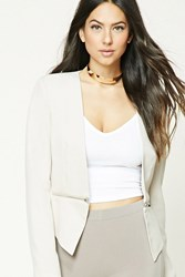 Forever 21 Zippered Open Front Blazer