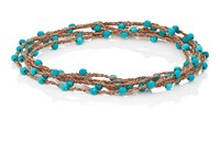 Feathered Soul Touch Wrap Bracelet Turquoise