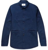 Folk Cotton Chambray Shirt Indigo