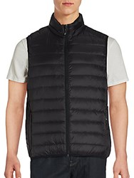 Saks Fifth Avenue Sleeveless Puffer Jacket Charcoal