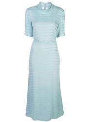 Rachel Comey Sola Striped Dress Blue
