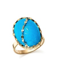 Lana Jewelry 14K Yellow Gold Turquoise Ring Turquoise Gold