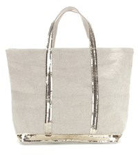 Vanessa Bruno Cabas Medium Embellished Canvas Shopper Neutrals