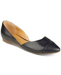 Tommy Hilfiger Naria D'orsay Pointed Toe Flats Women's Shoes Black