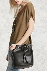 Forever 21 Pebbled Faux Leather Bucket Bag
