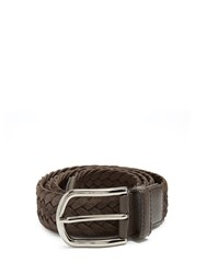 Tod's Woven Suede Belt Brown
