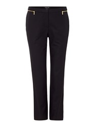 Episode Ankle Length Trousers With Zip Black