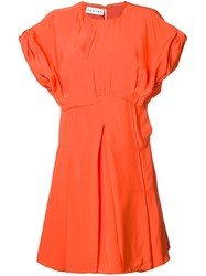 Carven Short Flared Dress Orange