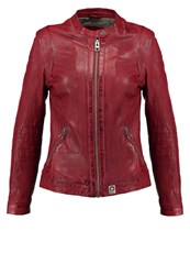 Oakwood Leather Jacket Feu Red