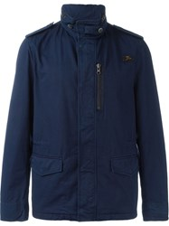 Fay Single Breasted Field Jacket Blue