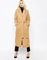 Weekday Long Mannish Overcoat Pink