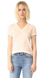 Alexander Wang Superfine Short Sleeve V Neck Tee Flesh