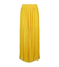Pinko Pleated Crepe Midi Skirt Female Gold