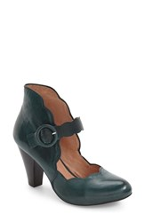 Miz Mooz Women's Footwear 'Carissa' Mary Jane Pump Teal Leather