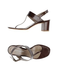 Luca Valentini Thong Sandals Cocoa